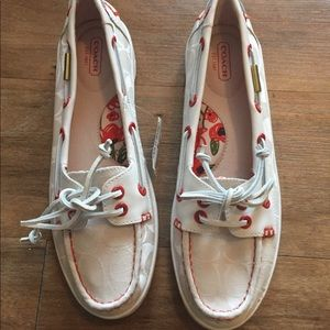 NWT Coach boat shoes - size 8.5